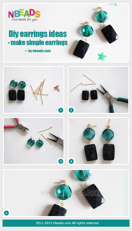 diy earrings ideas - make simple earrings