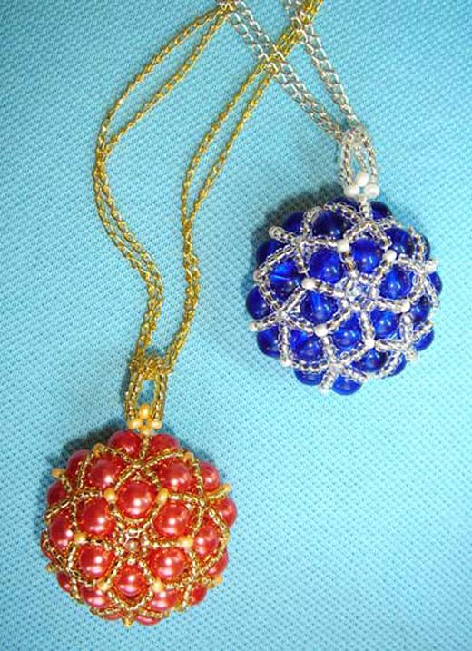 Кулоны из бисера со схемами плетения - handmade (идеи и МК).