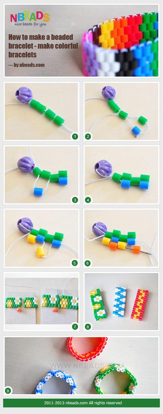 how to make a beaded bracelet - make colorful bracelets