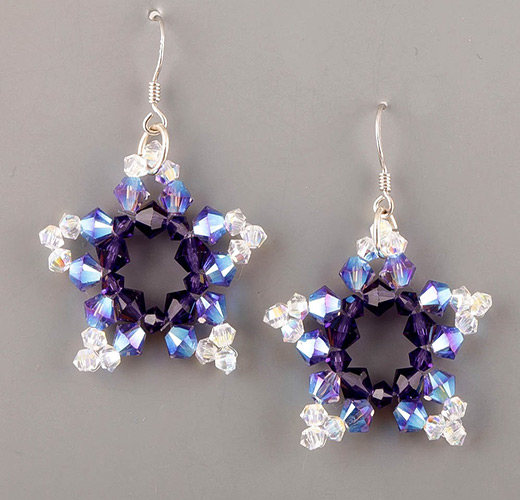 beaded earrings patterns make beaded five pointed