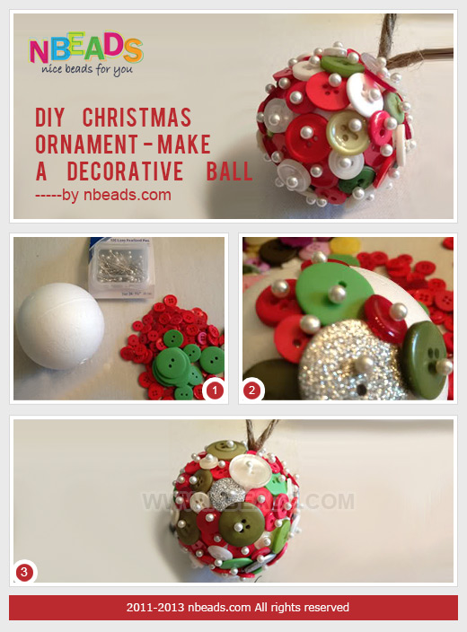 diy christmas ornament - make a decorative ball