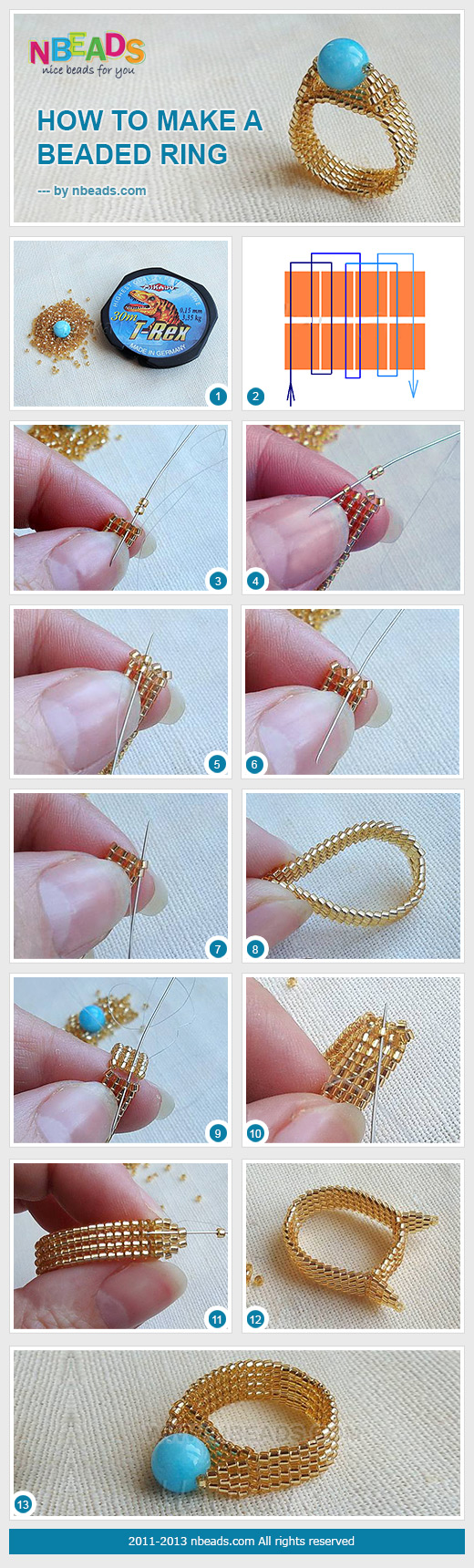 How to Make A Beaded Ring – Nbeads