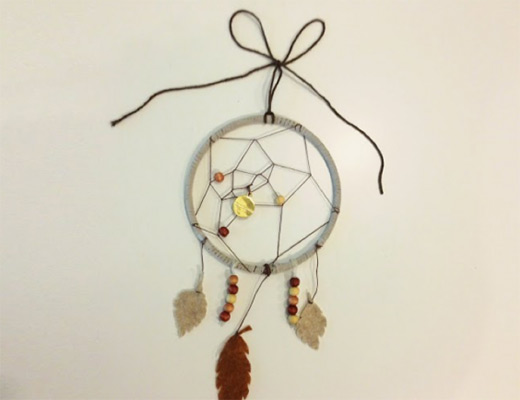 How to make a dream catcher nbeads for Dream catchers how to make them