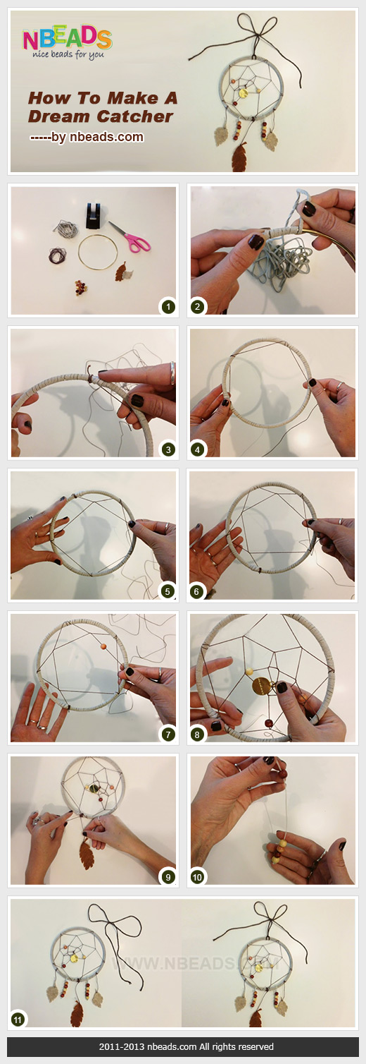 How to make a dream catcher nbeads for How to make dreamcatchers