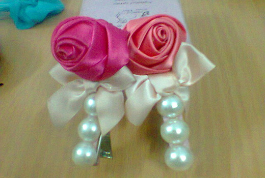 How to make flower hair clips ribbon rose making nbeads ribbon rose mightylinksfo