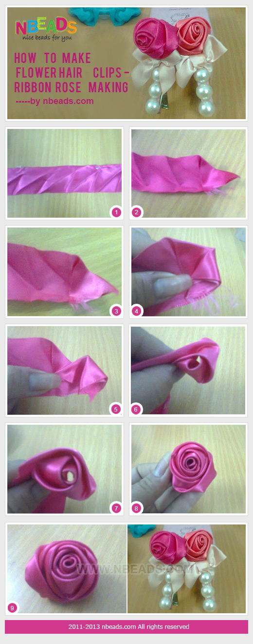 How to Make Flower Hair Clips