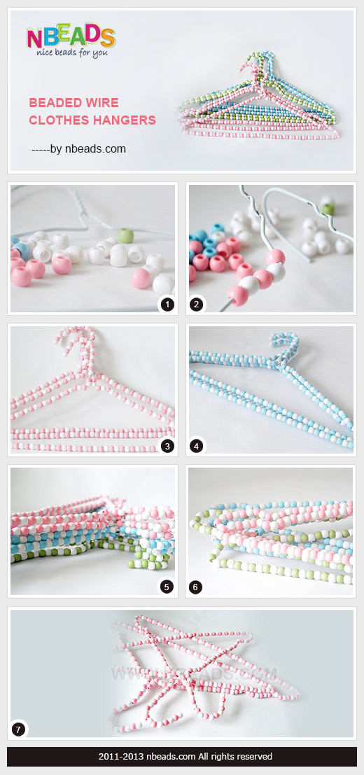 beaded wire clothes hangers