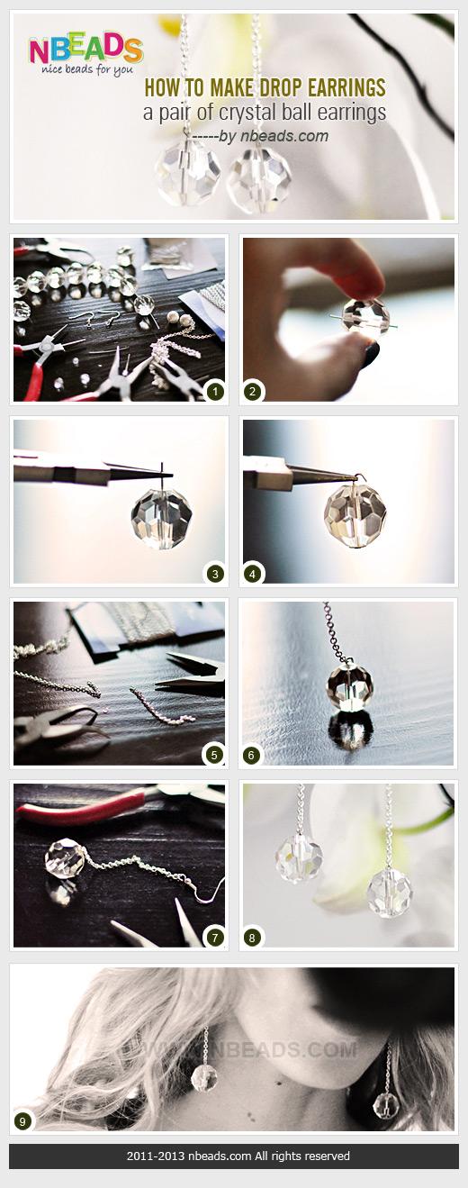 how to make drop earrings