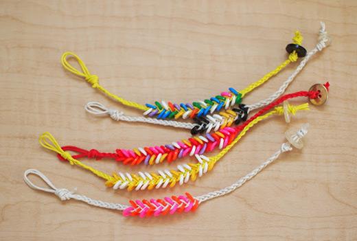 Melted Fabric Bead Bracelet