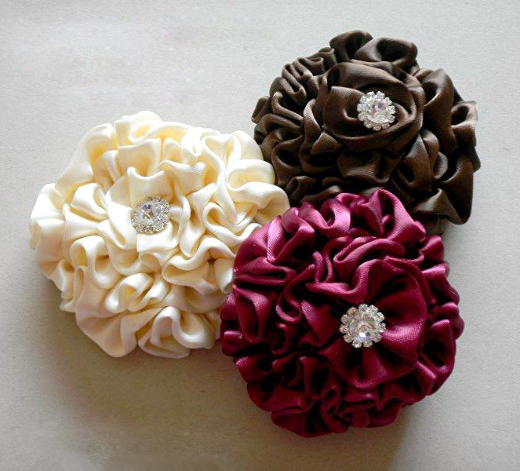 Satin flower tutorial make flower hair clips nbeads flower hair clips mightylinksfo