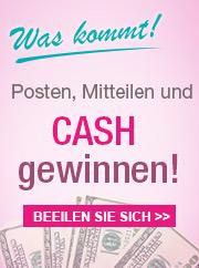 Posten, Mitteilen und CASH gewinnen!