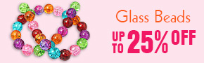 Glass Beads  Up TO 25% OFF