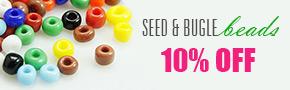 Seed & Bugle Beads 10% OFF