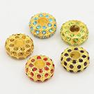 Glass Rhinestone European Beads