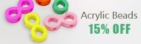 Acrylic Beads 15% OFF