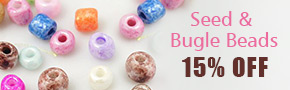 Seed & Bugle Beads 15% OFF