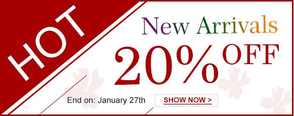 Hot New Arrivals 20% OFF