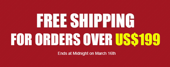 Free Shipping For Orders Over US$199
