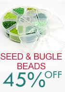 Seed & Bugle Beads    45% OFF
