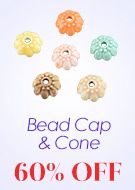 Bead Cap & Cone Up To 60% OFF
