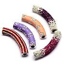 Rhinestone Tube Beads