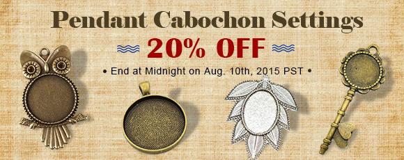 Pendant Cabochon Settings 20% OFF