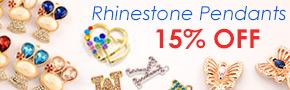 Rhinestone Pendants 15% OFF