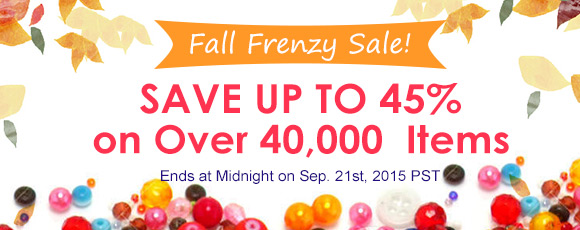 Fall Frenzy Sale! Save Up To 45% on Over 40,000 Items