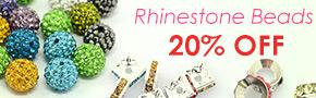 Rhinestone Beads 20% OFF