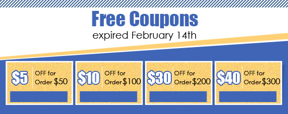 Free Coupons, expired February 14th
