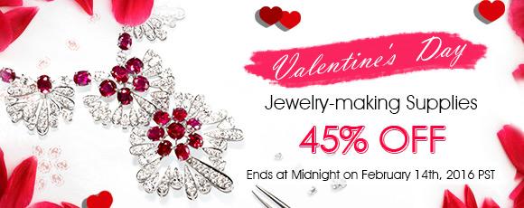 Valentine's  Day Jewelry-making Supplies 45% OFF