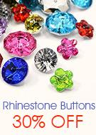 Rhinestone Buttons 30% OFF