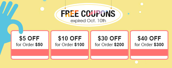 Free Coupons, expired Oct. 10th