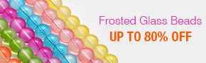 Frosted Glass Beads Up To 80% OFF