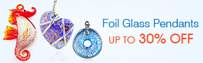 Foil Glass Pendants Up To 30% OFF