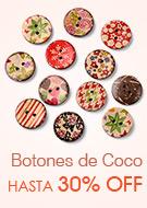 Botones de Coco Hasta 30% OFF