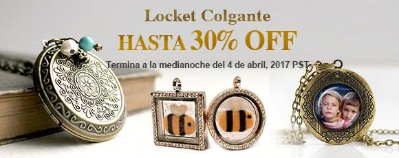 Locket Colgante Hasta 30% OFF Termina a la medianoche del 4 de abril, 2017 PST