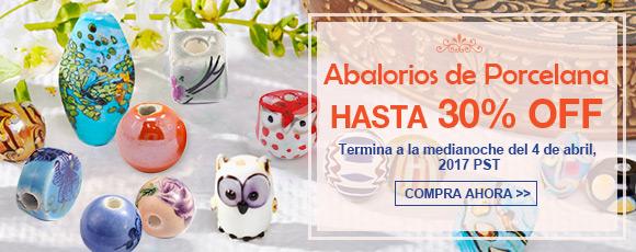 Abalorios de Porcelana Hasta 30% OFF Termina a la medianoche del 4 de abril, 2017 PST