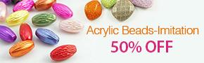 Acrylic Beads-Imitation 50% OFF