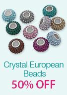 Crystal European Beads 50% OFF
