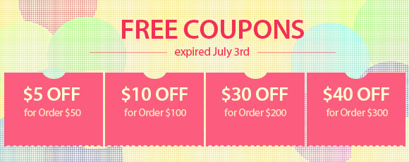 Free Coupons, expired July 3rd