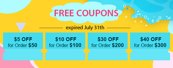 Free Coupons, expired July 31th