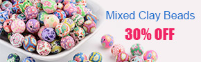 Mixed Clay Beads 30% OFF