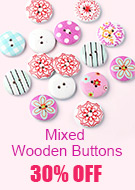Mixed Wooden Buttons 30% OFF