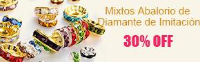 Mixtos Abalorio de Diamante de Imitación 30% OFF