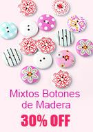 Mixtos Botones de Madera 30% OFF