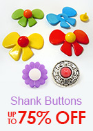 Shank Buttons Up To 75% OFF