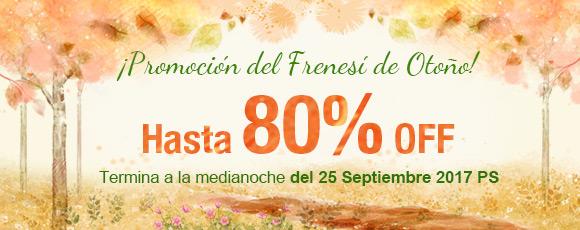 ¡Promoción del Frenesí de Otoño! Hasta 80% OFF