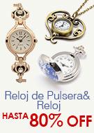 Reloj de Pulsera& Reloj Hasta 80% OFF