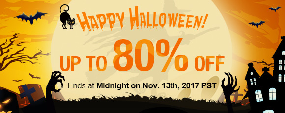 Happy Halloween Sale! Up To 80% OFF